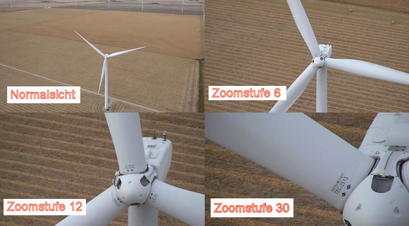 Zoomstufen an der DJI Zenmuse Z30