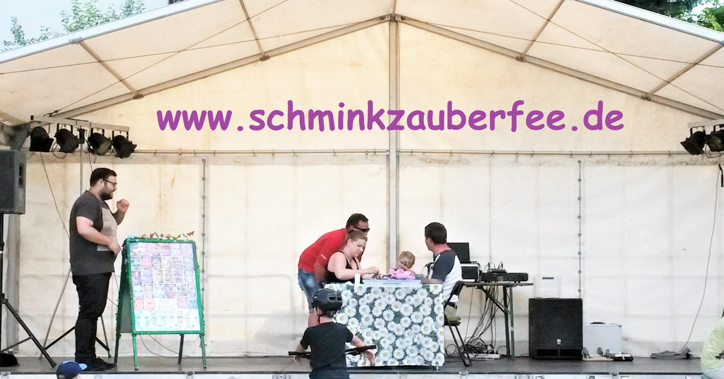 Live-Schminkaktion für Radio Homburg / Pirmasens / Neunkirchen anlässlich einer Verlosung auf dem Dorffest in Ottweiler Steinbach 2017