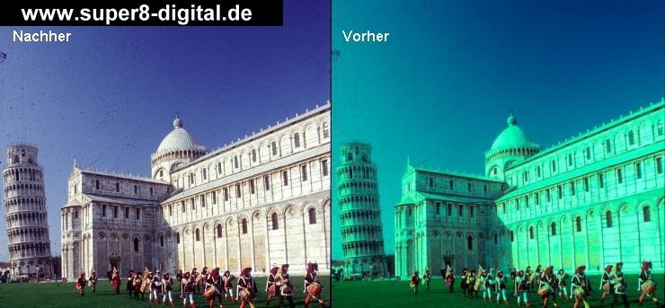 den schiefen Turm von Pisa haben wir nicht korrigiert - könnten wir aber