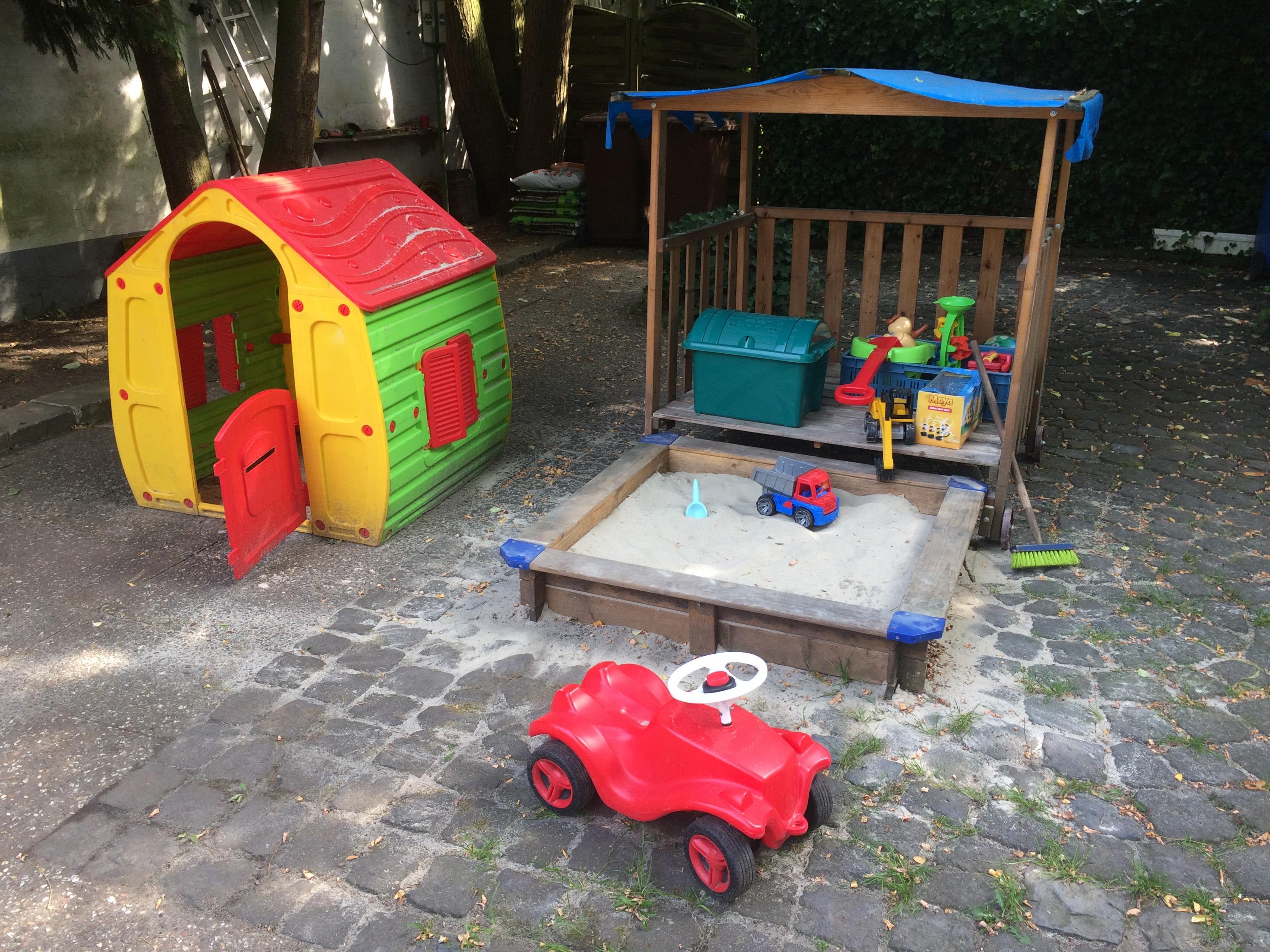 Kinder-Spielecke im Biergarten Zur Post
