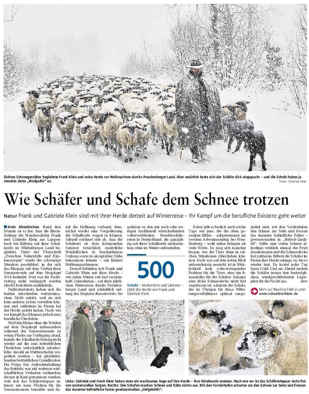 Rheinzeitung 11.01.2018 Ausgabe Altenkirchen