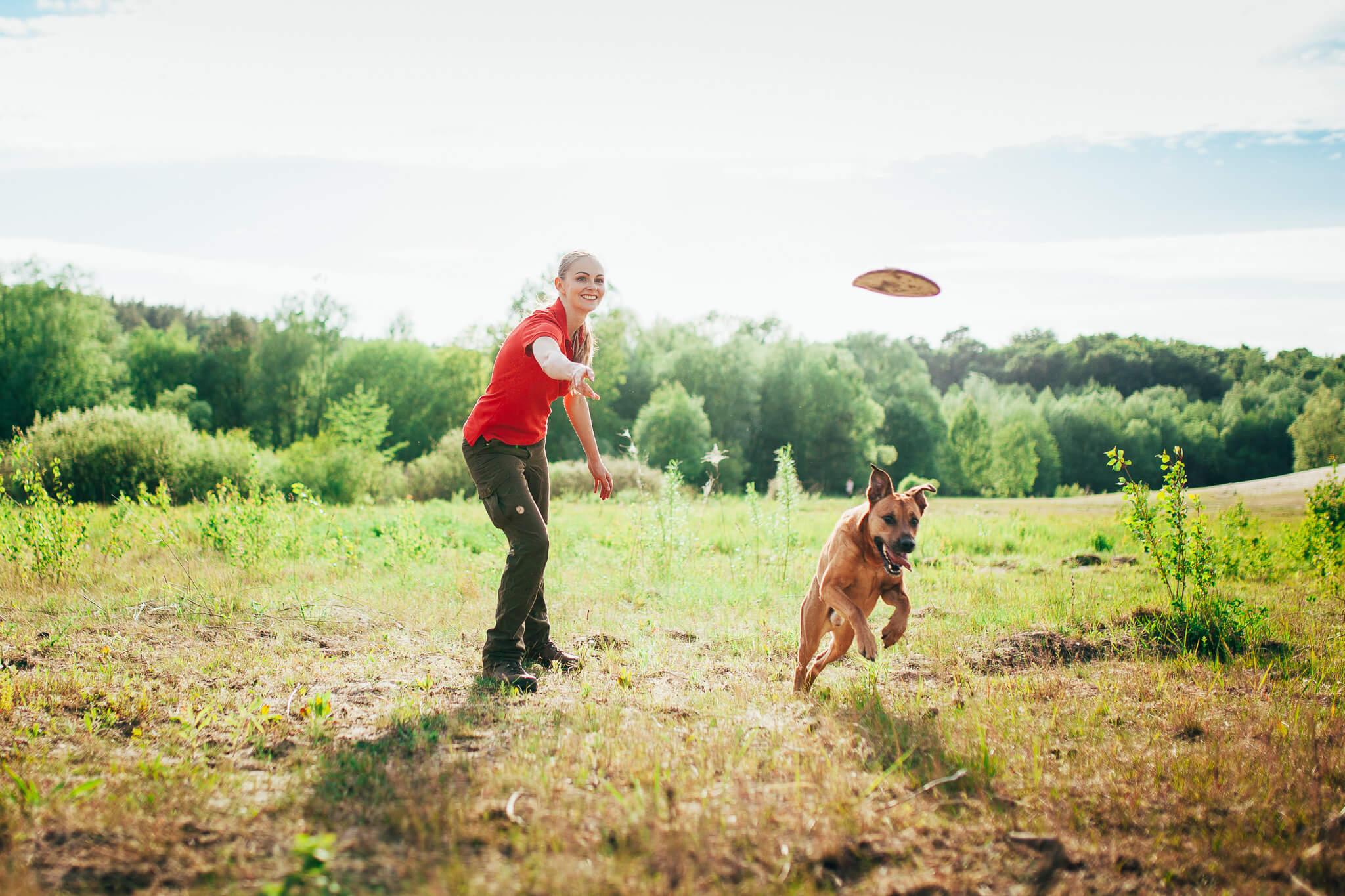 Jagd auf das Flybee - Lucky im Hundetraining mit Lilli Guth