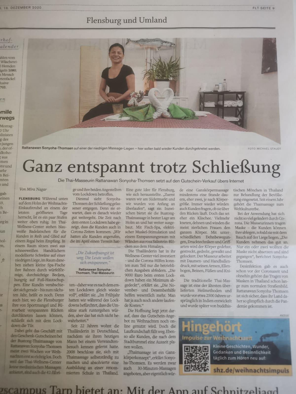 Flensburger Tageblatt 16.12.2020