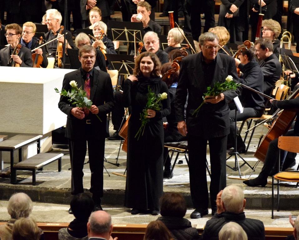Herbert Deininger (Dirigent), Andrea Nübel (Sopran), Rainer Pachner (Bariton) Brahms: Requiem, 12.11.2017, St.Peter, Lörrach
