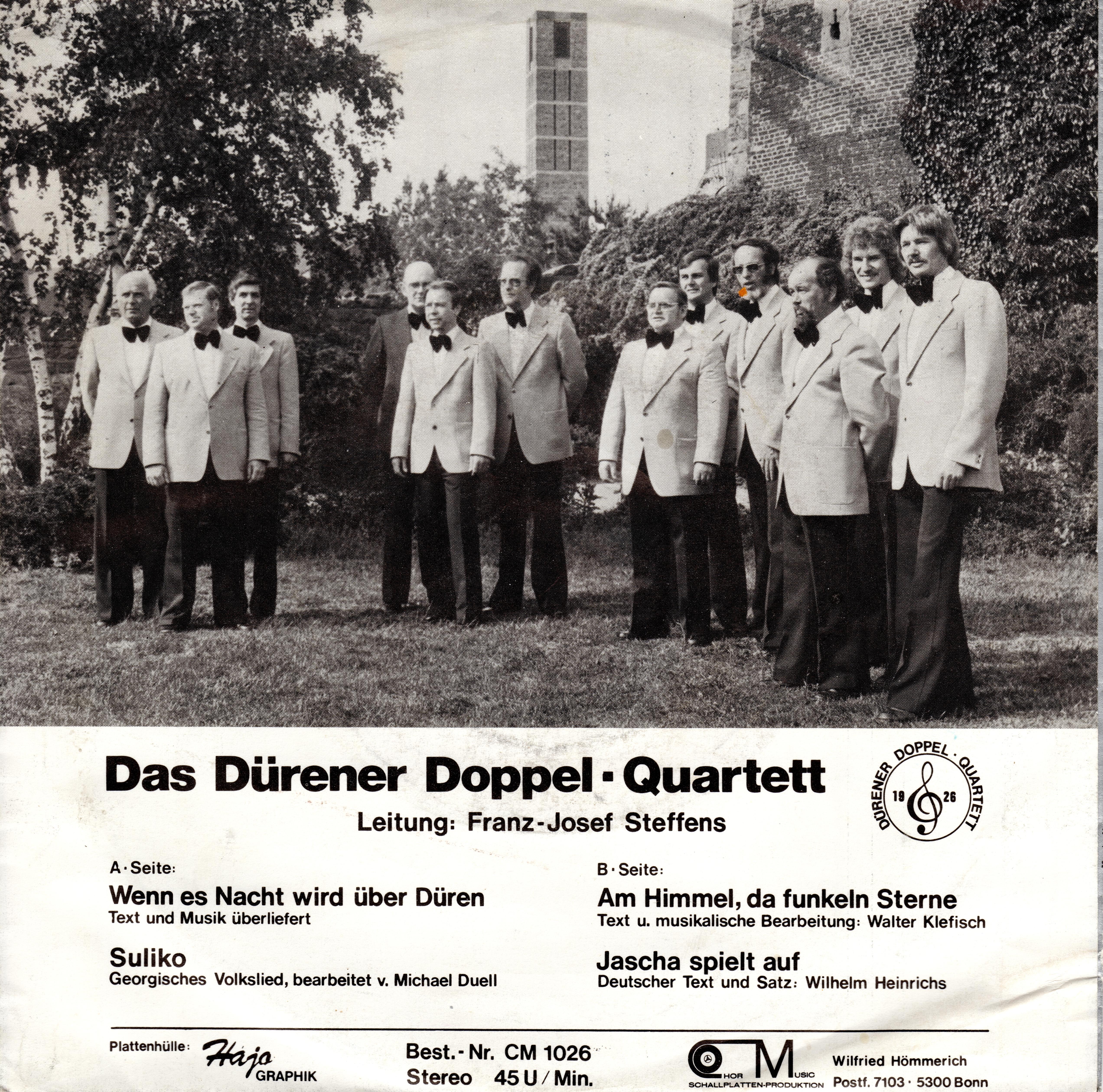 "Schallplatte ""Dat ahle Düre"" Cover - Rückseite"