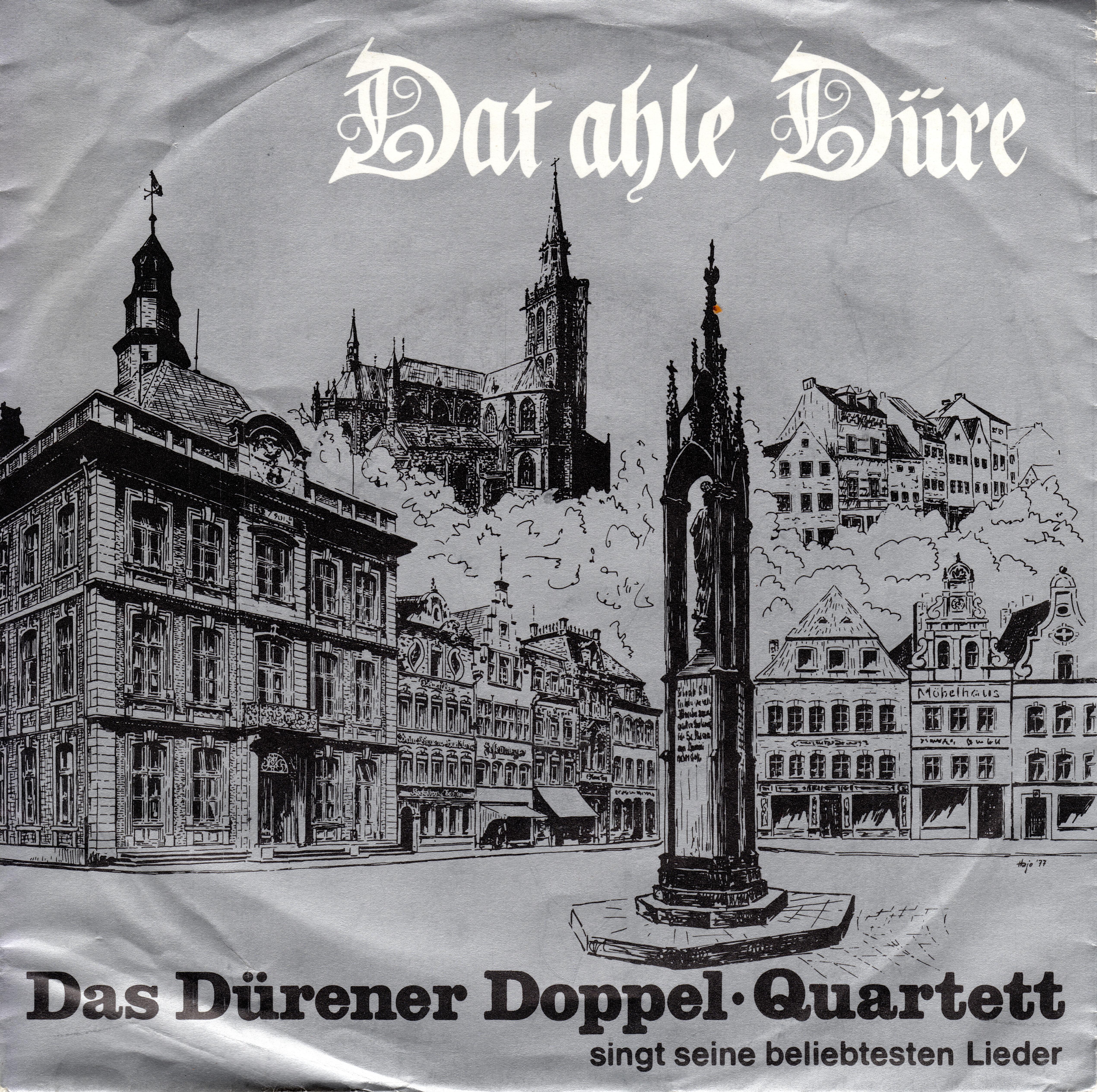 """Schallplatte """"Dat ahle Düre"""" Cover - Vorderseite"""