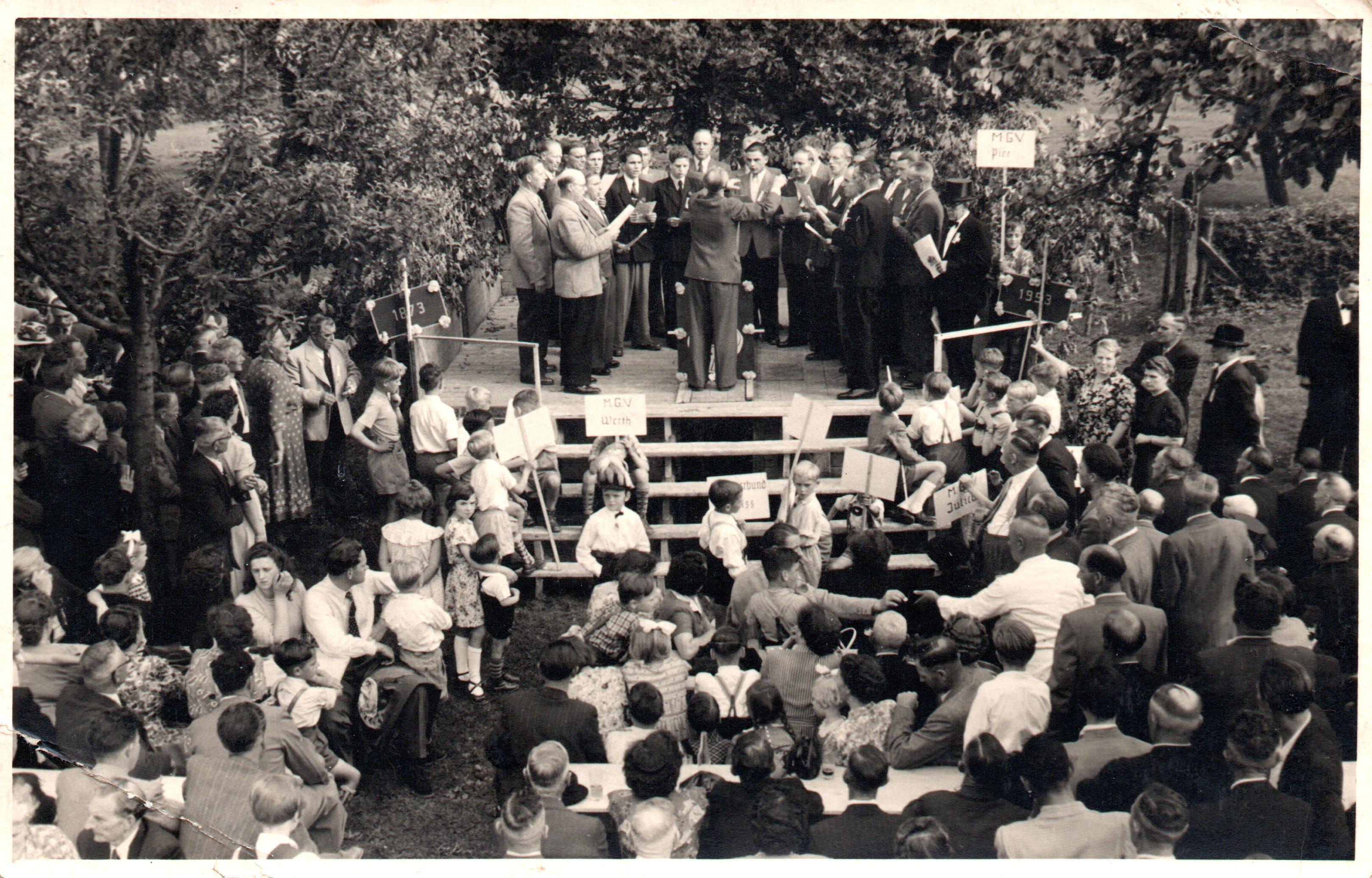Sängerwettstreit 10.05.1953 in Pier