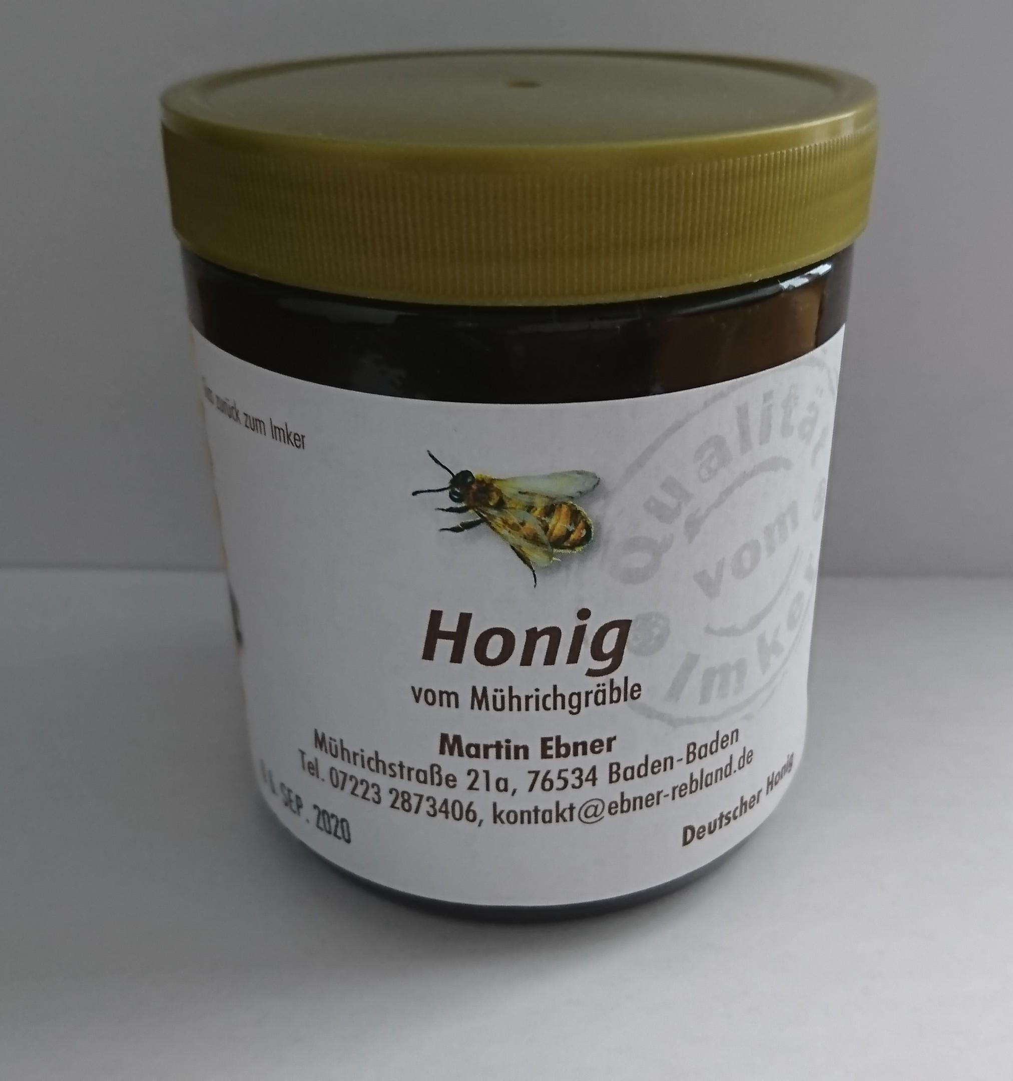 Beispiel 500 g Honigglas