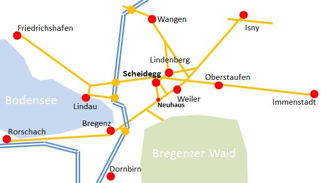 So kommen Sie nach Scheidegg ...