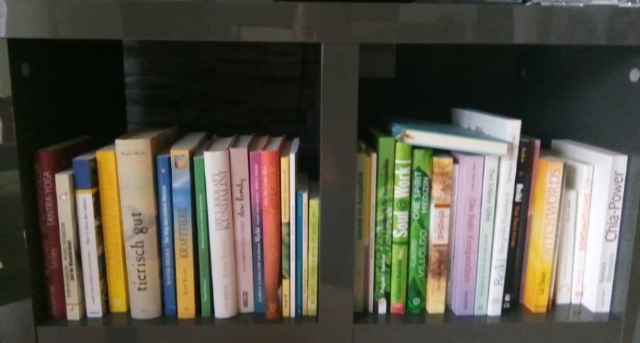 Einige meiner vielen Bücher.