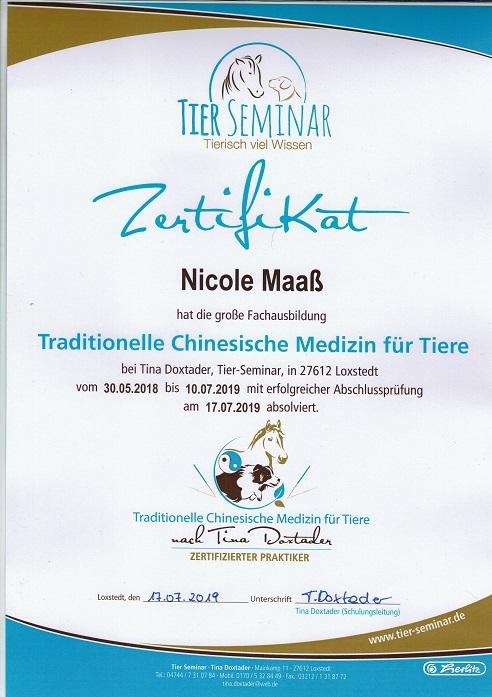 TCVM Zertifikat